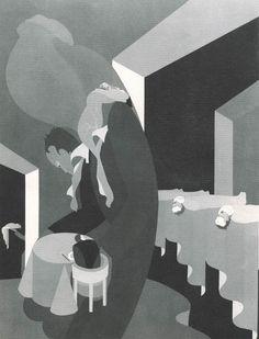 Fagofobia. Miedo a tragar o a comer.Las Fobias Ilustradas - John Vassos