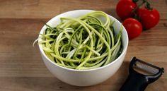 The art of courgette spaghetti