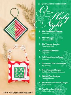 O Holy Night from the Christmas Ornaments 2015 issue of Just CrossStitch Magazine. Order a digital copy here: https://www.anniescatalog.com/detail.html?prod_id=127192