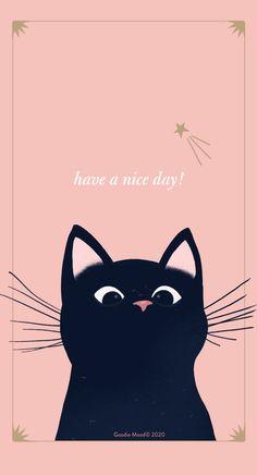 Cat Phone Wallpaper, Cartoon Wallpaper, Mobile Wallpaper, Pink Panter, We Bear, Song Lyrics Wallpaper, Mood, Wallpapers, Kitty Cats