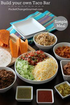 Build your own Taco Bar | Recipes on PocketChangeGourmet.com