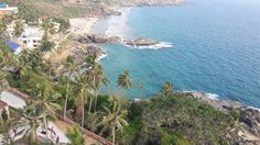 View from the Light House on Kovalam beach in Kerala.