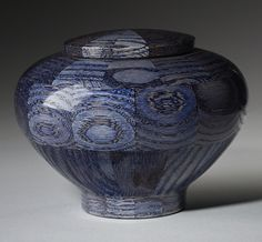 Peony Blue Wood Cremation Urn Memorial Urns, Blue Wood, Cremation Urns, Peony, Natural Wood, Sculptures, Infant, Pottery, Turning