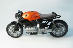 BMW cafe racer. If only my old K100 looked that good.  Now all it needs is a turbo...