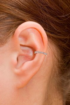 Sterling Silver Ear Cuff CZ Pave With 18K Gold Vermeil, Non Pierced Ear Cuff, Ear Wrap, Single Row CZ