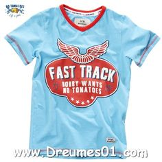 No Tomatoes T-Shirt V for Freedom Fresh Blue