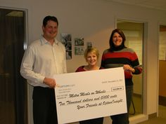 Optum Insight donates a really big check to Meals on Wheels (2011)!