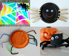 Fun spider crafts for kids! Fun Crafts, Crafts For Kids, Arts And Crafts, Halloween Activities, Halloween Fun, Spider Crafts, Educational Activities For Kids, Crafty Kids, Creative Kids