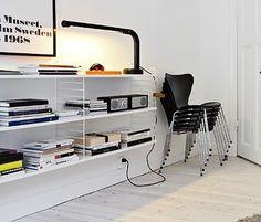 Via Ffffound | String System | Arne Jacobsen Chair | Moderna Museet Poster