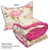 Wake Up Frankie - Abbey Rose Set : Teen Bedding, Pink Bedding, Dorm Bedding, Teen Comforters