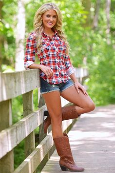 Image and video hosting by tinypic country concert outfit summer, plaid shirt outfit summer, Mode Country, Country Girl Style, Country Fashion, Country Girls, Southern Girl Style, Country Casual, Country Women, Country Music Outfits, Country Concerts