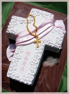 Cross cake for First Communion