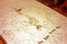 creating a custom coat of arms tattoo design on behance Cartoon Drawings Of People, Sketches Of People, Disney Drawings, Drawing People, Cartoon Drawing Tutorial, Cartoon Girl Drawing, Art Clipart, Arm Drawing, Owl