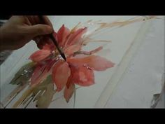 How to paint a poinsettia video.