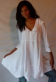 WHITE BLOUSE TOP BABYDOLL LACING CAP SLEEVE CUTE - FITS - 2X 3X 4X - X861S LOTUSTRADERS LOTUSTRADERS. $50.99