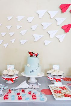 Airplane Birthday Party Decor | boy birthday party ideas | fun birthday party ideas for boys | paper airplanes