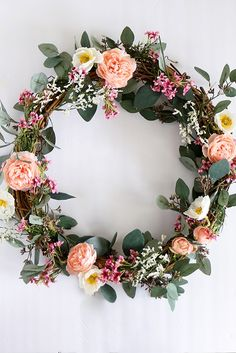 Create a simple summer wreath for your front door with artificial flowers from Afloral.com #wreaths #frontdoor #diywreath Wreaths For Front Door, Door Wreaths, Faux Flowers, Dried Flowers, Traditional Style Homes, Diy Wreath, Wreath Ideas, Luxury Homes Interior, Summer Wreath