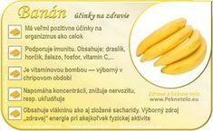 Banán - účinky na zdravie a chudnutie