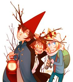 Over the garden wall, gravity falls, adventure time twisted main characters, bipper, beast wirt Garden Falls, Gavity Falls, Bad Friends, Bipper, Cartoon Crossovers, Over The Garden Wall, Fandom Crossover, Fan Art, My Demons