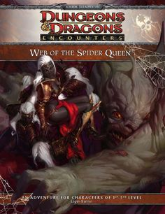 Web of the Spider Queen (4e) Encounters | Book cover and interior art for Dungeons and Dragons 4.0 - Dungeons & Dragons, D&D, DND, 4th Edition, 4th Ed., 4.0, 4E, Roleplaying Game, Role Playing Game, RPG, Game System License, GSL, Wizards of the Coast, WotC | Create your own roleplaying game books w/ RPG Bard: www.rpgbard.com | Not Trusty Sword art: click artwork for source