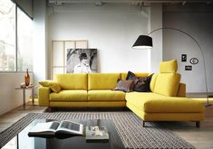 63 Trendy Decor Home Yellow Living Rooms Living Room Sofa, Living Room Interior, Living Room Decor, Bedroom Decor, Living Rooms, Sofa Design, Furniture Design, Interior Design, Yellow Couch
