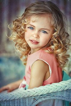 Little girl with beautiful eyes.