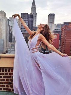Lilac Gown - Model Behavior