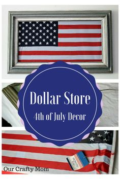Easy Dollar Store DIY – Fourth of July Art Our Crafty Mom