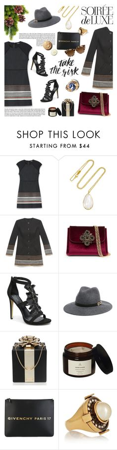 """""""Soirée de Luxe with bebe Holiday: Contest Entry"""" by maradela ❤ liked on Polyvore featuring Bebe, Ippolita, Kate Spade, Givenchy and Alexander McQueen"""