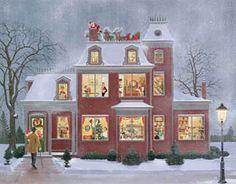 "Charlotte Joan Sternberg illustration - ""Advent House"""