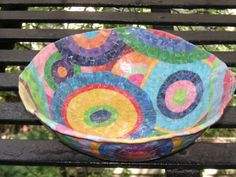 Colorful Decorative Bowl by LKWisan on Etsy, $125.00