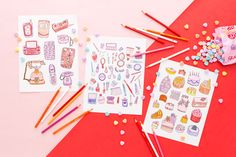 Have your cake and color it, too. // Phones, Makeup and Cake coloring pages