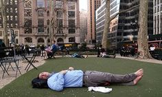 A man takes a nap as New York experiences record temperatures in March. 'We appear uninterested in the environmental changes happening right in front of our eyes,' says James Dyke. [And SRM?] http://www.theguardian.com/environment/2016/mar/15/record-global-temperatures-are-shocking-and-yet-we-dont-respond-seriously