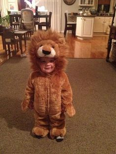 Adorable Lion Kids Halloween Costume