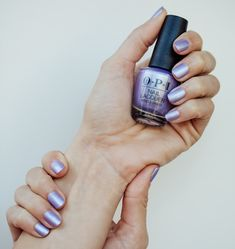 Try Just a Hint of Pearl-ple Nail Polish from the OPI Neo-Pearl Collection. Make your day special with this limited edition pearlescent wedding nail polish! Purple Nail Polish, Purple Nails, Gel Nail Polish, Nail Polishes, Interview Nails, Wedding Nail Polish, Pearl Nails, Dry Nails, Metallic Nails