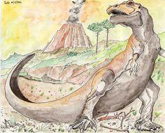 Tyrannosaurus Tyrannosaurus, Paintings, Art, Art Background, Paint, Painting Art, Kunst, Performing Arts, Painting
