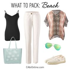 #CAbi - Spring break ready. See more beach outfits on the blog.