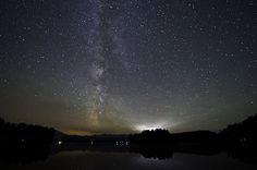 Stargazing at Mew Lake, Algonquin Park