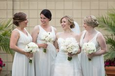 all white bouquets White Bouquets, Bridesmaid Dresses, Wedding Dresses, All White, Bloom, Fashion, Bride Maid Dresses, Bride Gowns, Wedding Gowns