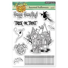 Penny Black Clear Stamps Haunted Halloween