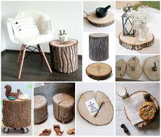 Moodboard boomstam - boomschijf | tree trunk - wood slice #Pintratuin