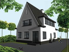 Modern Traditional, Bergen, Beautiful Homes, Villa, Windows, Mansions, Architecture, House Styles, Houses