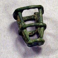 Miniature Basket, Mali, copper alloy