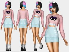 Melanie Martinez Monster - Sweatshirt Outfit By renansims ( REAL LOOK ) For more contents, visit my page on facebook ( ❤ ) Please do not Modify or Retexture my meshes without myPermission! Thank...