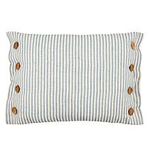 Buy John Lewis Sailor Stripe Cushion with buttons on both sides Online at johnlewis.com