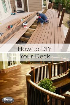 There's still time to get your deck summer-ready! Get started on a DIY deck overhaul at Trex.com. #doityourself #outdoorliving #outdoorproject #backyard #deck #patio #porch