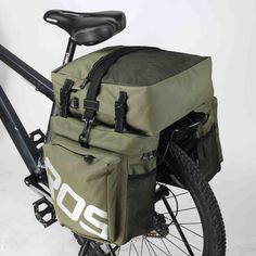 ROSWHEEL bicycle pannier bags and rear pannier bags have strong and water-proof fabric combined with super large inner room
