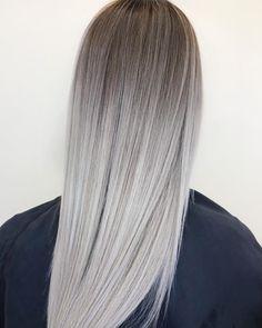 Ashy Hair, Silver Blonde Hair, Blonde Foils, Gorgeous Hair Color, Hair Color Techniques, Hair Highlights, Balayage Hair, Hair Looks, Hair Trends