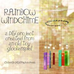 Make a windchime from an old toy xylophone