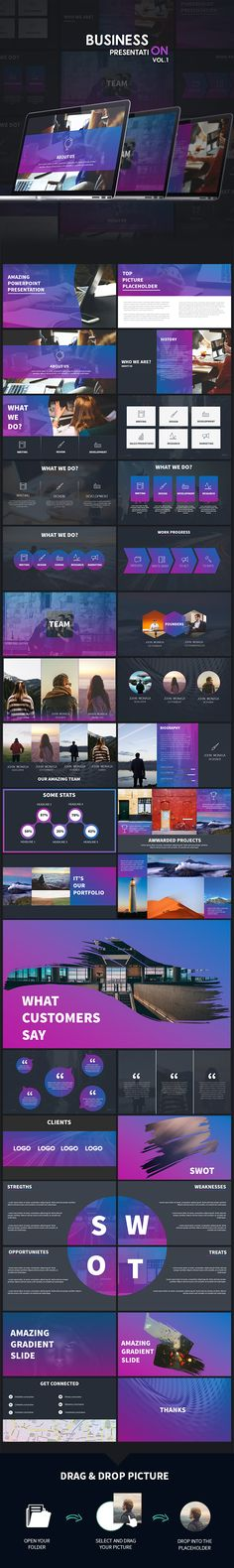 Business - Colorful Powerpoint Presentation - Business PowerPoint Templates